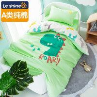 幼儿园被子三件套纯棉宝宝午睡套装儿童入园幼儿园被子三件套午睡含芯婴儿床上用品宝宝纯棉被套定做 ROAR Dinosau