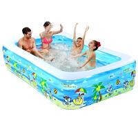 婴儿童充气游泳池家庭超大型海洋球池加厚家用大号戏水池 抖音