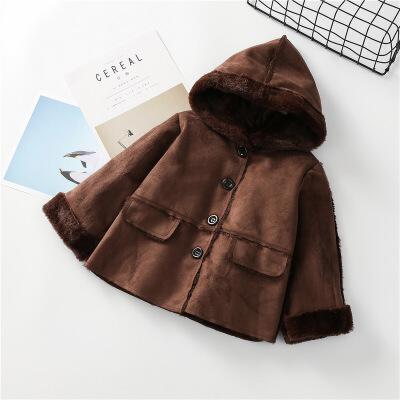 冬新款儿童韩国女童装连帽鹿皮毛绒绒单排扣中长款外套棉衣B3-S25 发货周期:一般在付款后2-90天左右发货,具体发货时间请以与客服协商的时间为准