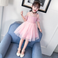 公主连衣裙新款韩版儿童夏装裙子女大童时尚蓬蓬纱裙