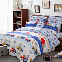 多喜爱纯棉四件套卡通床品儿童全棉套件床上用品卡布工程师