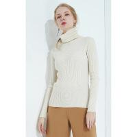 慵懒风高领加厚羊绒女秋冬新款纯色简约中长款针织打底衫