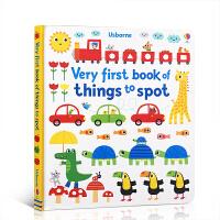 【全店300减100】英文原版 Very First Book of Things to Spot 低幼宝宝英语启蒙纸板