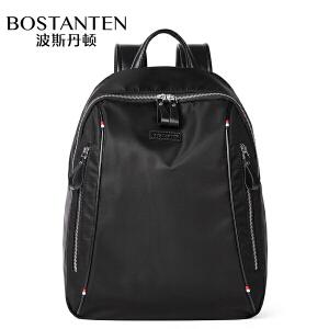 (可礼品卡支付)波斯丹顿男士帆布双肩包商务休闲背包大容量电脑包旅行学生书包潮B6174111