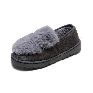 WARORWAR新品YM13-802秋冬韩版毛绒平底舒适保暖女士毛毛鞋