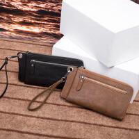 钱包中长款男士手包大容量多卡位钱夹卡包休闲手腕钱包潮男零钱包