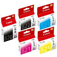 佳能原装 PG-820 BK黑色墨盒 CL-821黑色 青色 红色 黄色墨盒 佳能MX876 MX868 MP648