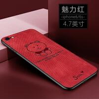 原创开心熊苹果7手机壳女8plus网红6splus新款7plus个性创意潮牌iphone6软硅胶8p