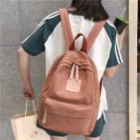 双肩包男女2019新款夏简约大中学生书包少女旅行背包