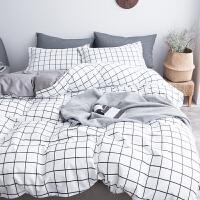 2019秋款男士宿舍床单被套学生用的单人床被子一套床单套婚床枕头