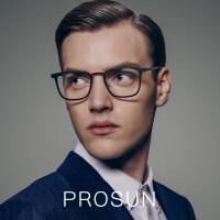 保圣(PROSUN)光学镜架近全框近视眼镜框男士休闲眼镜架PJ6009 B11砂半透明深灰/亮深枪