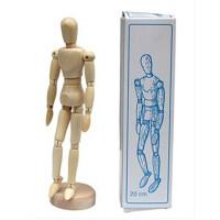 8英寸20cm实木漫画工具木人模型木偶人木头关节人偶素描模特木偶