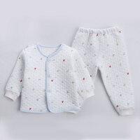 【支持礼品卡】新款婴儿内衣套装纯棉新生儿秋衣裤睡衣宝宝开衫长袖衣服5hi