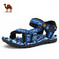 骆驼牌男鞋春夏季款户外透气休闲凉鞋 男款沙滩鞋提花凉鞋