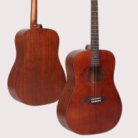 ?复古民谣木吉他41寸40寸初学者学生男女入门36寸面单旅行单板吉他