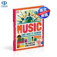 英文原版 DK 音乐及其运作原理 儿童音乐入门指南 Music and How it Works 精装 儿童英语启蒙百科