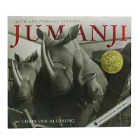 英文绘本 原版进口Jumanji 30th Anniversary Edition 勇敢者的游戏
