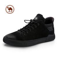 骆驼牌男鞋 秋冬新款男士真皮高邦板鞋 时尚休闲短靴潮流鞋子