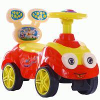 儿童学步车四轮滑行车带音乐助步车1-3岁溜溜车小孩扭扭车 大眼。红-无音乐无礼品 促销款