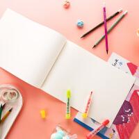 晨光学生绘画图画本儿童幼儿园创意卡通大号画画本空白 加厚速写本