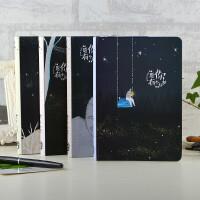 创意文具复古硬面笔记本学生彩页插画日记本记事本小清新精装本子