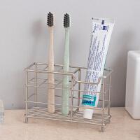 【满减】ORZ 不锈钢制6格牙膏牙刷架 多功能浴室洗漱用品置物架牙膏收纳架