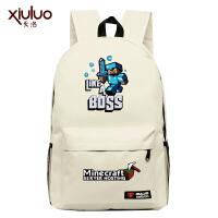 我的世界Minecraft苦力怕书包游戏周边双肩包背包男女小学生夜光