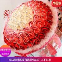求婚丝带包装纸99朵折玫瑰花 手工折纸材料包 海绵纸材料包包