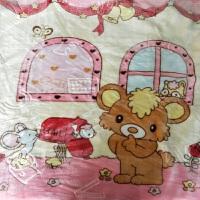 婴儿毛毯儿童云毯新生儿抱被外出包被宝宝睡毯双层加厚推车盖毯被