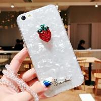 苹果6s手机壳iphone6套ihone6带挂绳ipone草莓phone女apple6s高档