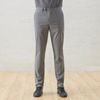 【1件3折价:128.7】CHIN男士休闲商务长裤2020新款春季商务休闲男裤子细条纹西裤