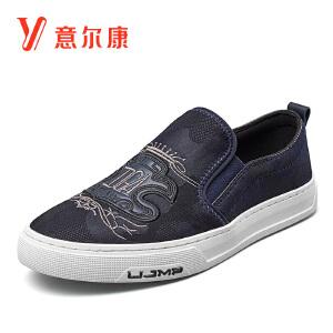 意尔康男鞋2018秋新款乐福鞋平底板鞋