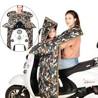 电动车挡风被秋冬季防寒挡风衣子儿童款电瓶车女士摩托车挡腿罩