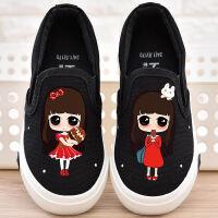 女童帆布鞋2018秋季新款儿童布鞋公主童鞋小白鞋加绒宝宝休闲板鞋