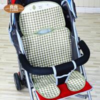 夏季凉席座椅垫子 婴儿车手推车凉席 儿童推车凉席子苎麻宝宝