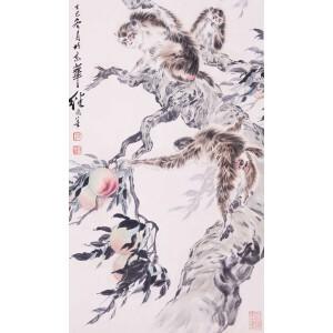 杰出的中国画家、连环画艺术大师   刘继卣 《猴》