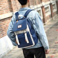 双肩包男时尚潮流韩版高中学院风校园男士休闲旅行背包大学生书包