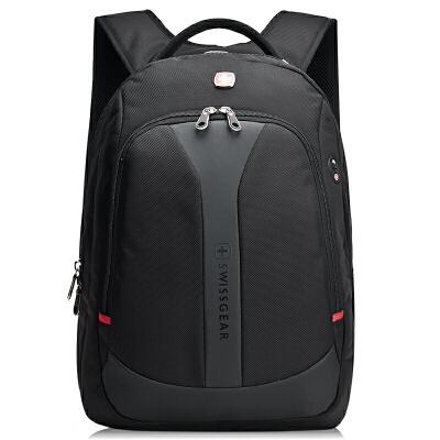 瑞士军刀中性黑色14.6寸商务休闲标准型护脊双肩电脑背包SA9666BL