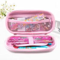 小学生笔袋女孩1-3年级芭比学习用具简约公主铅笔袋女儿童文具盒