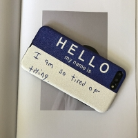 iphone6/6splus全包蓝色手机壳i7/8plus性冷淡ins潮牌保护套苹果x