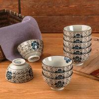 【支持礼品卡】10个装景德镇日式创意陶瓷碗餐具套装家用吃饭碗组合小汤碗米饭碗iv3