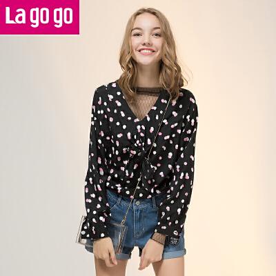 La·go·go 拉谷谷 GCSS50XC05 女士雪纺衬衫 *2件 103.8元(合51.9元/件)