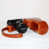 保护套EOS200D M5 M6佳能M3相机包M10 M100 100D 760D EOS M3浅棕色