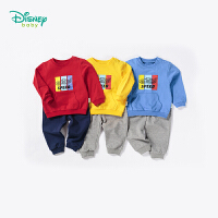 迪士尼Disney童装 男童套装秋季新品赛车系列卫衣休闲服宝宝纯棉衣服183T839