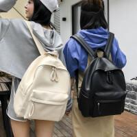 书包女韩版潮原宿高中学生双肩包2018新款百搭简约背包