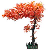 0719093547941装饰树叶造型客厅定做红枫室内装饰景观大树大型仿真树枝一包条装装饰品绿萝大型墙面