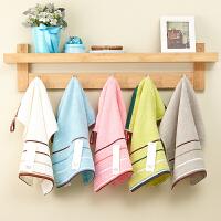 三条装加厚纯棉小毛巾儿童洗脸方巾家用全棉柔软吸水面巾 35x34cm