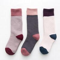 儿童袜子冬季韩版男童女童加厚毛圈袜宝宝保暖中长筒袜