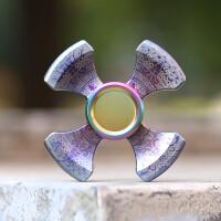 ?第三代凯撒十字军指尖陀螺两叶版铜指间陀螺钛合金指尖螺旋EDC?