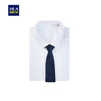 HLA/海澜之家商务花纹箭头型领带2018秋季新品优雅领带男